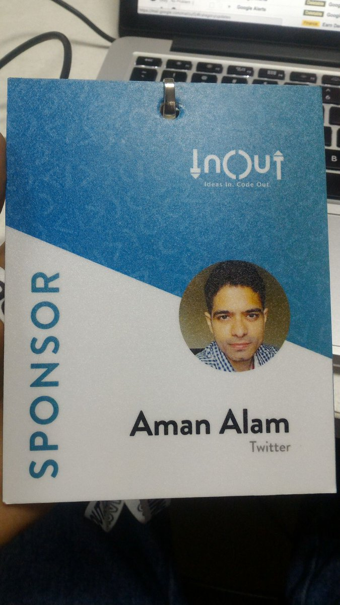 I am at @InOut_SVNIT , will help you with any questions related to Twitter APIs, @fabric , or Android! #inout https://t.co/tts40KLAG4
