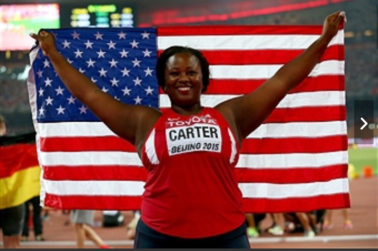 Michelle Carter digs deep on final throw and comes back to win gold in Olympic shot put! #BlackGirlMagic for real. https://t.co/a14JwGf76Y