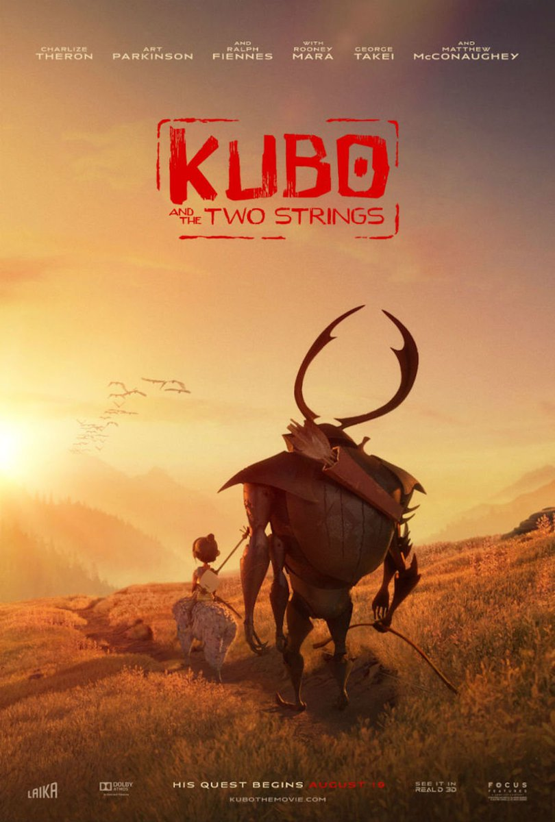 .@kubothemovie is the most poignant & affecting animated film I've seen. Script, visuals, acting & score = all A+! https://t.co/bvRZpSs2Xy