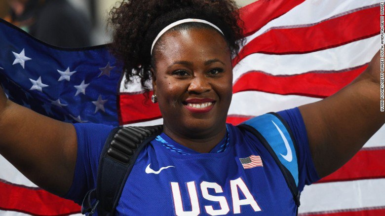 OLYMPICS: @ShotDiva Michelle Carter became the 1st American woman to win gold in shot put. https://t.co/Rhc13d2KDM