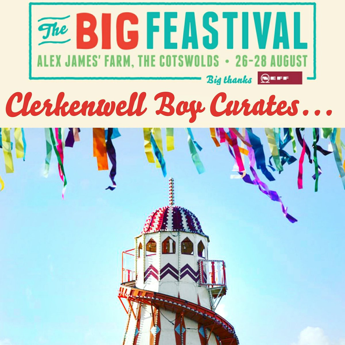 RT @Clerkenwell_Boy: #WIN the ultimate VIP FRIDAY foodie experience @TheBigFeastival ???????????????????????????????????????? See link for info https://t.co/QmydkHxrlH h…