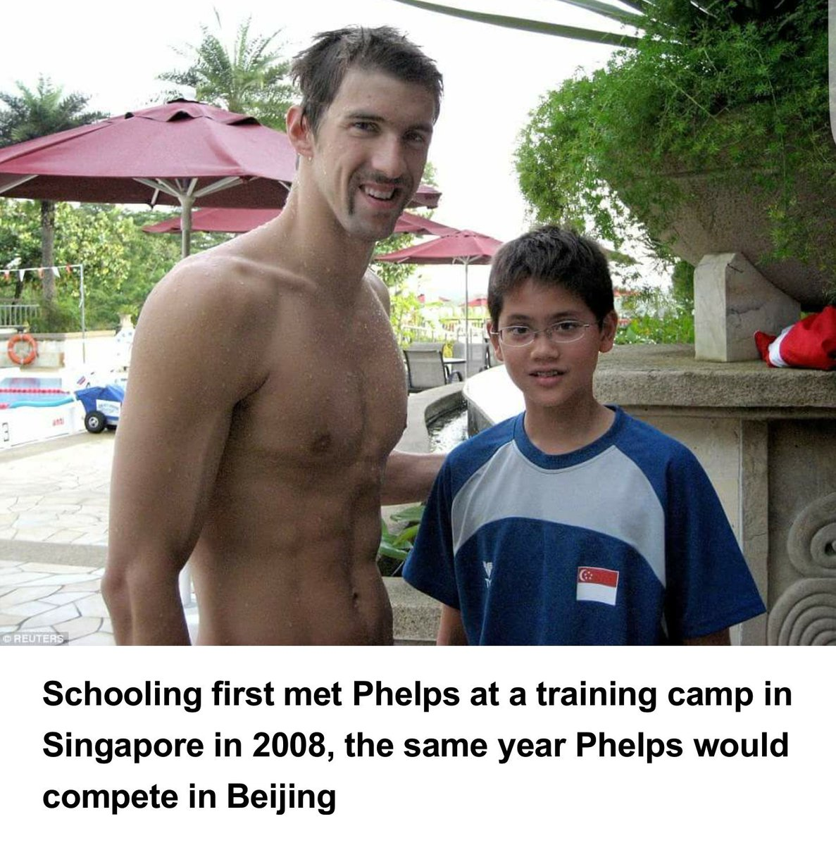 This is what dreams are made of, 21 years old Joseph Schooling from Singapore beating his idol #Phelps for the gold. https://t.co/8yENZ30nWz