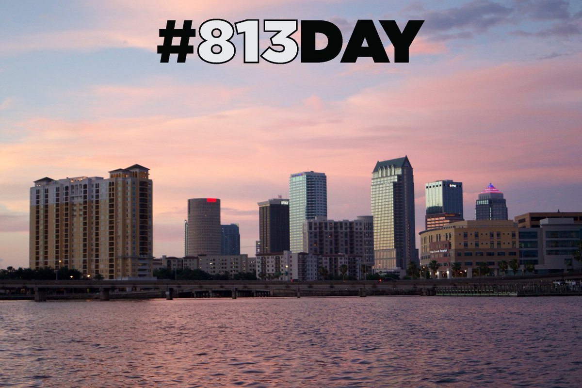 Happy #813Day, Tampa Bay! #UnlockTampaBay https://t.co/0vO9MARRtx
