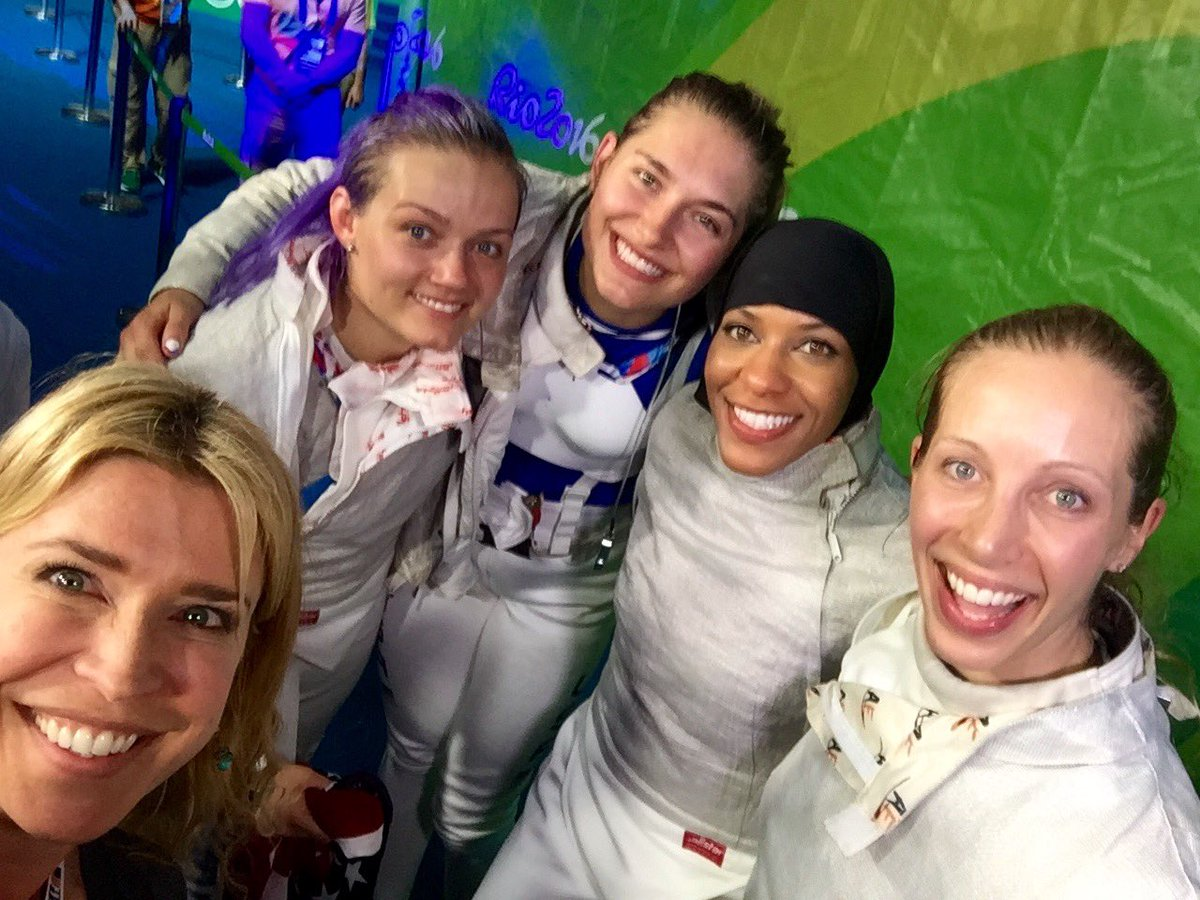 BRONZE MEDAL! i watched my girl @marielzagunis do it. boss ladies @monicaaksamit @DagaUSAFencing