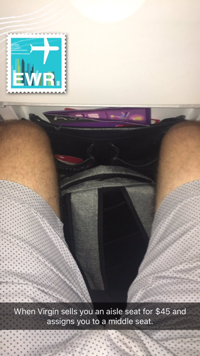 Thanks you @VirginAmerica for overselling my flight and re-assigning my paid upgrade seat ($45) to someone else! https://t.co/bV1T01KLHj
