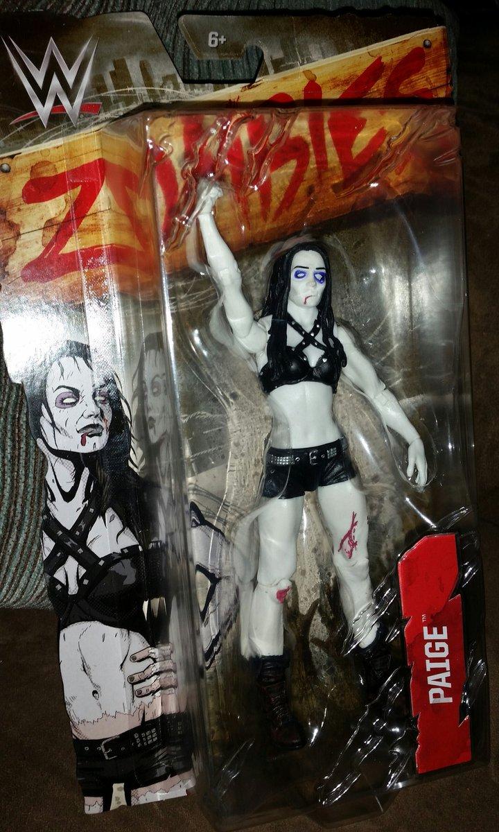 Love ❤️❤️ Mattel's @wwe #zombie line! Had to pick up @RealPaigeWWE She's kinda hot as a zombie