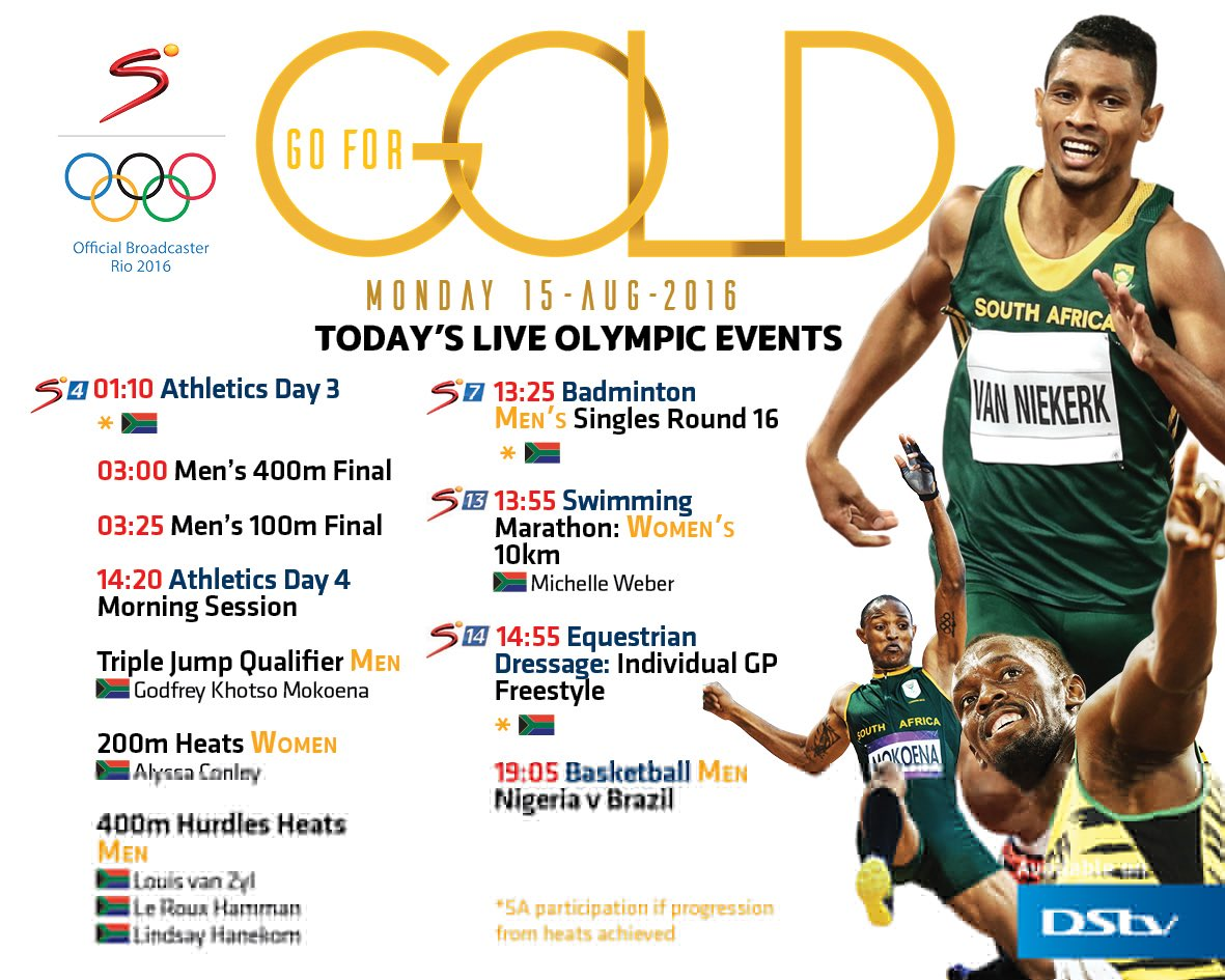Tomorrow 3am to 3.25am could be the most sensational time of your week - #Rio2016 live on SuperSport #Wayde #Bolt https://t.co/M4Yz1kXjiY