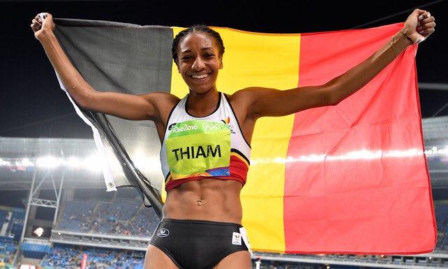 Dat ze de grootste is!!!! @thiam_nafi #nafithiam #rio2016 #teamBelgium (