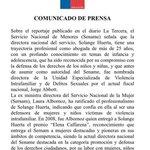 Comunicado de prensa sobre el reportaje de Solange Huerta de @latercera que subió y después bajó el @sename_gobierno https://t.co/0gI8PLAx00