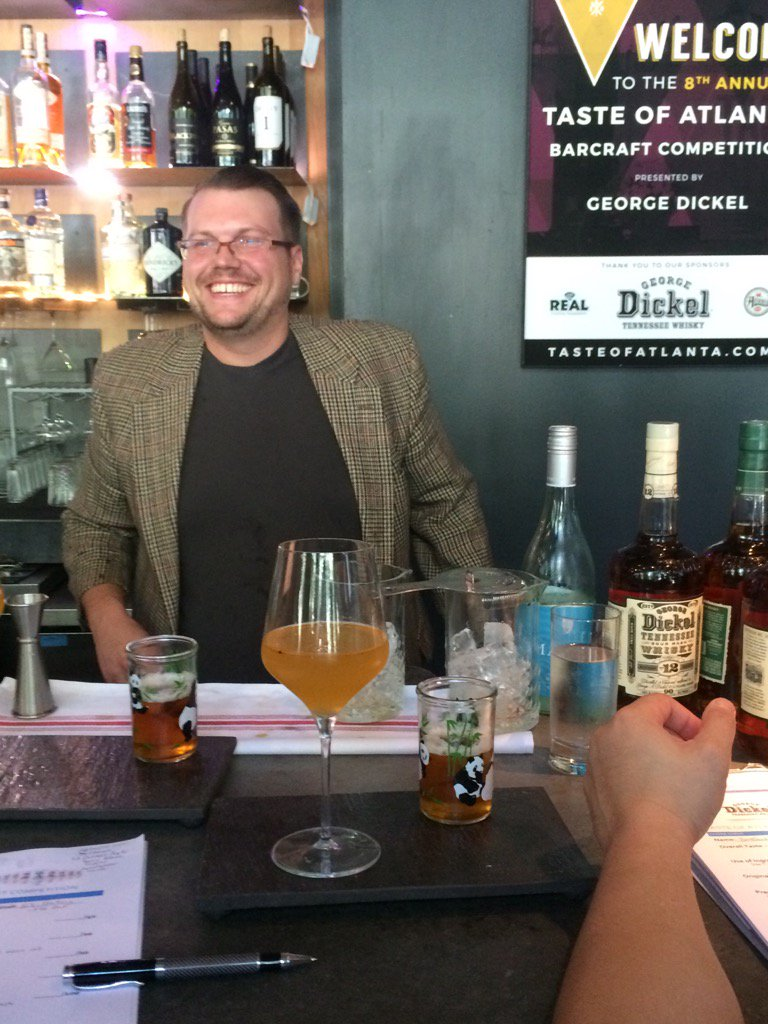 Bradford of #brushizakaya in the house. #tasteofatlanta Barcraft <a href=https://t.co/vglgLY70Os target=blank>https://t.co/vglgLY70Os</a>