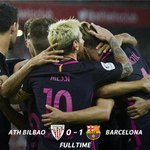#LaLiga - RESULT: Barca could not add to their halftime lead, but maintained their 100% record with win in Bilbao. https://t.co/hkNLfXllxH