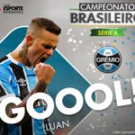 GOOOOOOOOOL DO @Gremio!!! Luan coloca o Imortal na frente! #GRExCAM https://t.co/FcoBaxN7k2