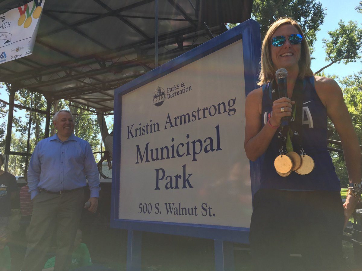 We are proud to name Municipal Park Kristin Armstrong Municipal Park. #boise #gold https://t.co/0KZ2T3mIJl https://t.co/Ecp1i6nSz8