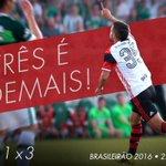 FIM DE JOGO! Um é bom, dois é melhor, mas #TrêsÉDemais! Mengão faz 3 a 1 na Chape e é vice-líder do Brasileirão! https://t.co/Tqbs7svrIl