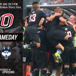 GAMEDAY! Omaha at No. 16 UConn.  Kickoff is at 6 p.m. (CT). https://t.co/RpKGwWx3Ok