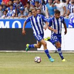 Buen trabajo del equipo! Ya pensando en el próximo partido. Contento por mi debut con el Deportivo Alavés!⚪️🔵 https://t.co/AoQbNKmYtc