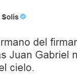 🔴 #AlertaLT   @MarcoASolis lamenta la muerte de Juan Gabriel https://t.co/lYEYXvx1I1
