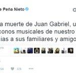 🔴 #AlertaLT   @EPN también lamenta la muerte de Juan Gabriel https://t.co/66k82wYAIZ
