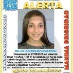 Segunda chica que desaparece esta vez en #Valencia solo tiene 13 años pido difusion! #melisarodriguez #DESAPARECIDA https://t.co/md065ORuhA