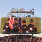 CPD Honor Guard on the Jumbotron at Fenway - so proud to present the colors tonight for the Boston Red Sox!!! https://t.co/yfhsBZ6tNE
