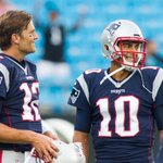 Another picture of the palpable tension between Brady and Garoppolo. https://t.co/KHKaYI0HG7