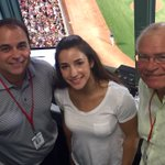 US Womens Gymnastics Gold and Silver Medalist @Aly_Raisman in the @SoxBooth with Joe and me @WEEI @RedSox #RedSox https://t.co/lkptexq8H0