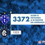 O @Paysandu lidera o torcidômetro do Esporte Interativo entre os paraenses! Ajude o time: https://t.co/b3ct16daf6 https://t.co/0Oi3kLQwi8