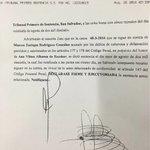 No hubo apelación, se declara en firme mi absolución ante acusación x difamación antepuesta por Ana Vilma de Escobar https://t.co/ZKjJAzqXXf