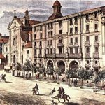 El desaparecido teatro Apolo q estuvo entre 1873 y 1929, a la derecha d la Iglesia d San José #CalledeAlcalá #Madrid https://t.co/q2x8gtrTLu