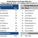#Mariners Gameday Information - Aug. 26 at #WhiteSox: https://t.co/iBFPVNdVD4 https://t.co/Ou6rhIlHQT