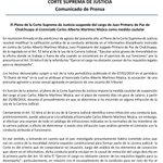 @CorteSupremaSV: Pleno de la CSJ suspende del cargo a Juez Primero de Paz de Chalchupa, Santa Ana https://t.co/YcH9sLEK4E