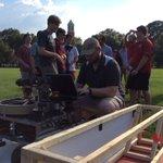 Testing for @UA_Astrobotics on the Quad #todayatUA ahead of next weeks @NASAPrize #RollTide https://t.co/0hoScRXlrP