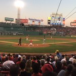 Were playing ball on a Friday night at Fenway. This is perfection. 👌 https://t.co/rfMd94Andp