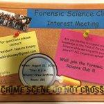 Forensic Science Club‼️ Interest Meeting, Wed: Aug 31 at 6pm in Drew Griffith 🔎 🐅 #SSU #SSU17 #SSU18 #SSU19 #SSU20 https://t.co/gPbrDfsfoI