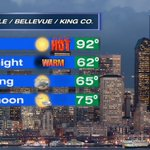 #SEATTLE WEATHER: Some sizzle tonight then a cloudy start tomorrow and more mild Saturday afternoon. #Q13FOX https://t.co/hYUFDKkGUy