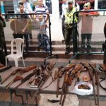 Agradecemos a los ciudadanos que cambiaron 30 armas de fuego, 2 granadas y 580 cartuchos por alimento. #VamosSeguros https://t.co/BADd7GKOYs
