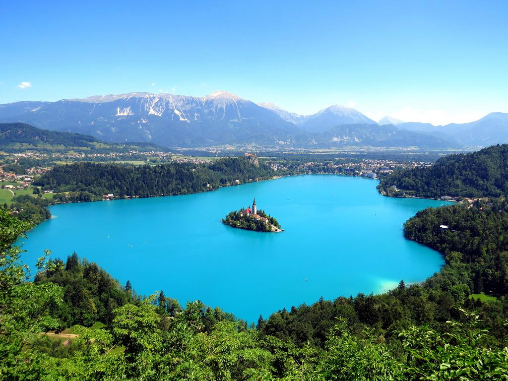 Lake Bled from above   Photography by ©Mark Gregory https://t.co/8pLgQJD869