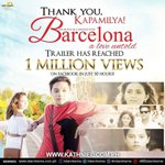 Wow! 1 million views in just 10 hours! Congrats #BarcelonaTrailerWorldPremiere ! Thank you for the love mga Kapamil… https://t.co/1ktaVVtE26