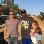 Nebraska fans in CA tailgating with us for the @CalabasasFtball game tonight #GBR baby https://t.co/mx6I9r1QxO