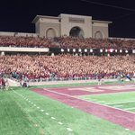 Great night w/ #TXST20! Cant wait to #PartyInTheEndzone with you in Sept 24 vs. Houston! #TXSTPride #BeatUH #TXST https://t.co/fjrNNWPix2