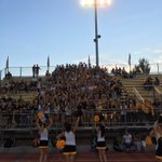 Black and Gold Spirit under the lights on a Friday night. Love it! https://t.co/yz7eiEXCxu