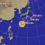 【早めの防災対策を】台風10号、29~30日上陸か 31日には日本海に https://t.co/zFGe1o9xzh 西日本ではあす28~29日に、上空に寒気が流入する影響で大雨になる可能性があり、落雷や突風とともに注意が必要。 https://t.co/ZgbnPkD3aY