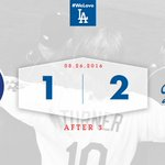 After 3: #Dodgers 2⃣, Cubs 1⃣ 👍 https://t.co/eHX4eQcubV
