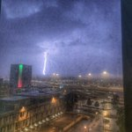 Check out this shot from one of my colleagues, Connie Post. This is from downtown Dayton earlier this eve. #ohwx https://t.co/hfj5y3PMnj