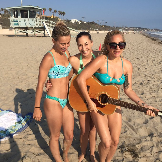 Lady Gaga @ladygaga: Who says you can't work at the beach?