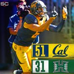 First college football game of the year is in the books. Cal takes down Hawaii in Sydney, 51-31. https://t.co/Uj0ekD9Iwr