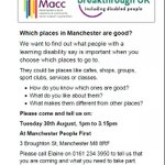 Are you living with or caring for someone with a learning disability? Which places in #Manchester are good? https://t.co/NgT8SaS8rn