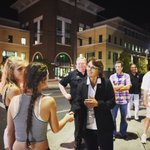 Tonight, #ChicoState president @HutchinsonGayle met young people on the town 👣 https://t.co/4WTQWq5DbY