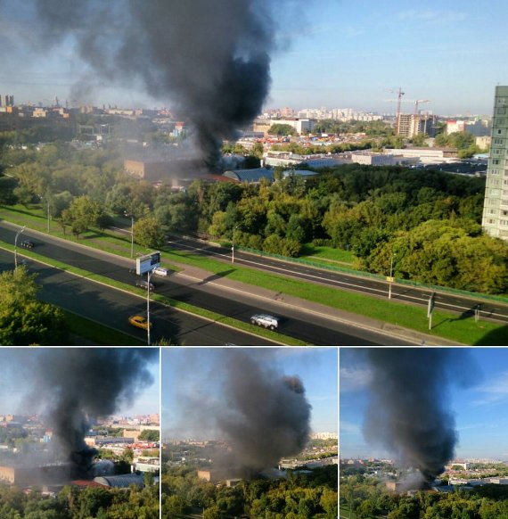 BREAKING At least 16 dead in huge fire at Moscow warehouse (pic
