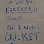 Message to my mum and dad. Cricket greater than my family #SAvsNZ https://t.co/vQ0TchzPe6